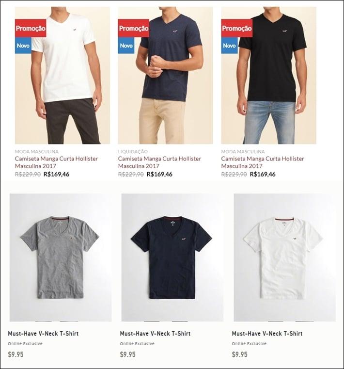 preço das roupas importadas