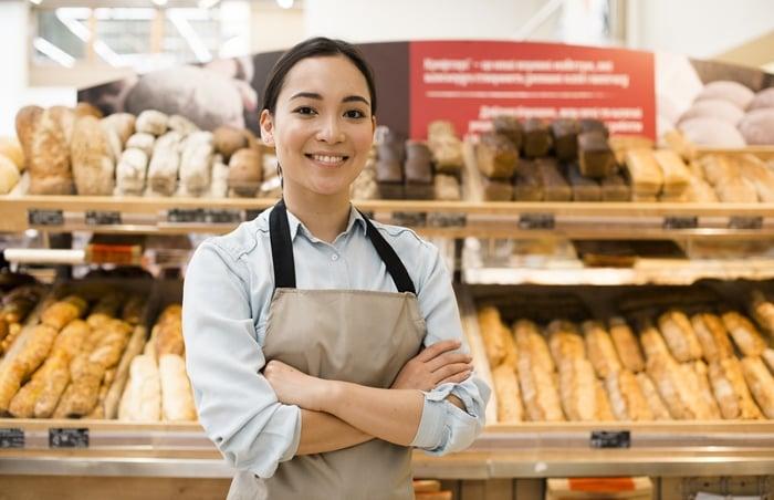 Quanto ganha um balconista de padaria