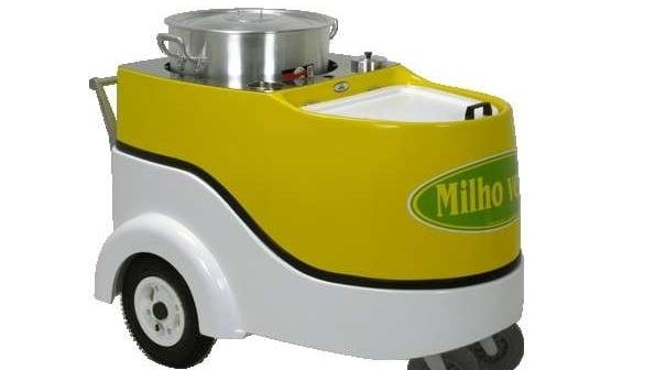 carrinho de milho verde cozido