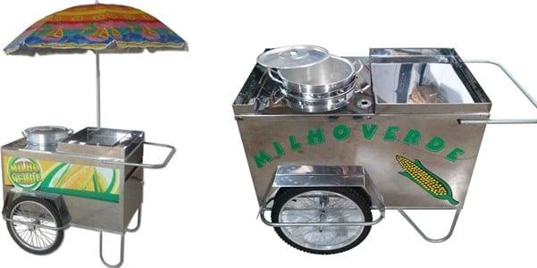 como montar um carrinho de milho verde
