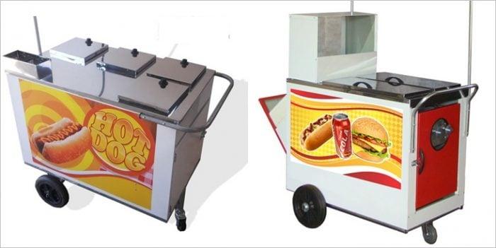 carrinhos para ambulantes de cachorro quente