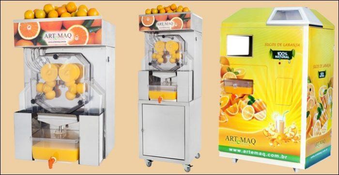 Preço da máquina de suco de laranja