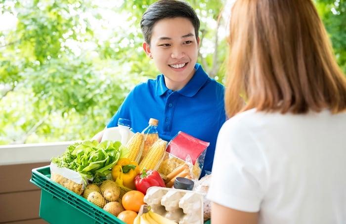 Entregador de supermercado