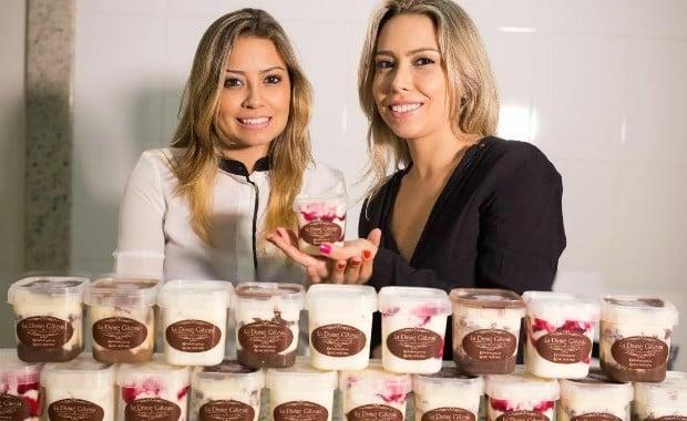 Mariana e Adriana - Exemplos de sucesso com bolo no pote