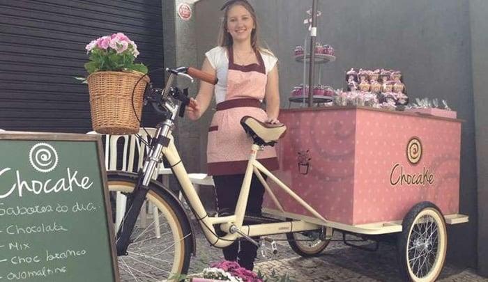 bike para vender doces nas ruas