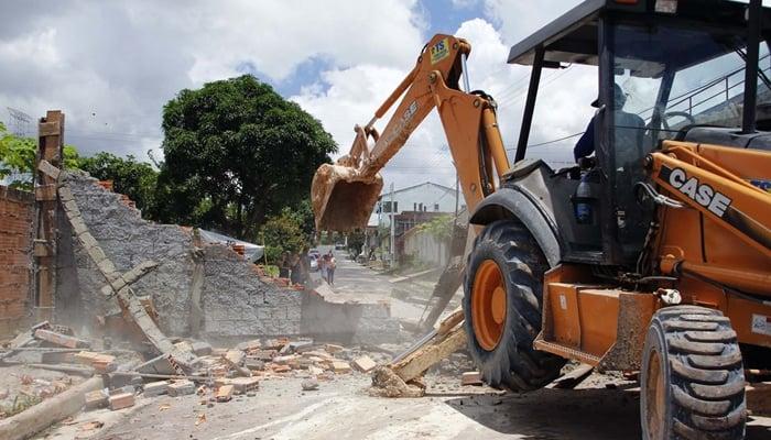 negócio de demolição