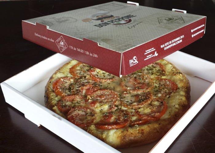 como embalar mini pizza