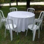 mesas e cadeiras de plástico direto da fábrica