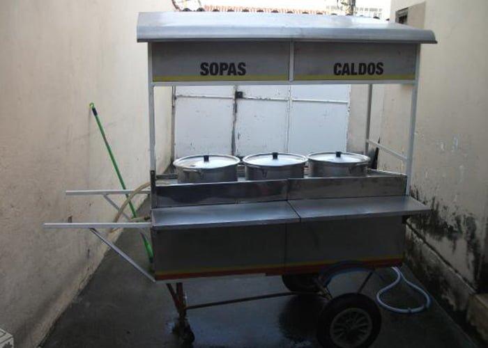 Carrinho para vender caldos e sopas
