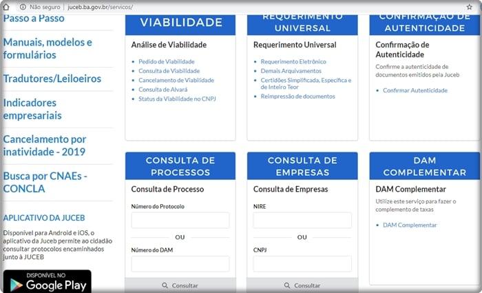 como descobrir o nire de uma empresa na Bahia