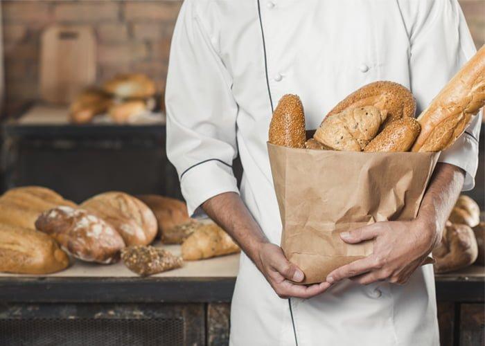 propaganda em saco de pão