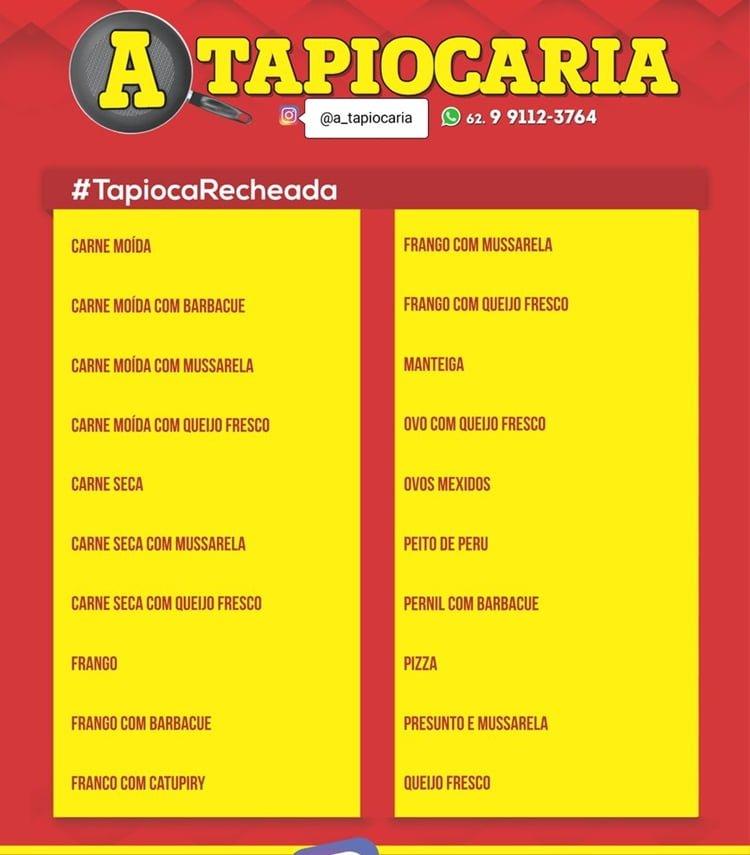 menu de tapioca