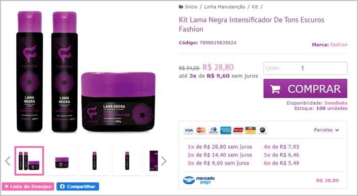 preço do kit de produtos para cabelo