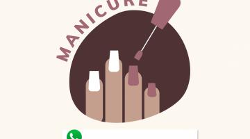 plaquinha de manicure