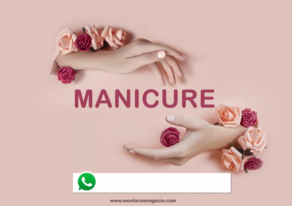 como fazer placa de anúncio de manicure e pedicure