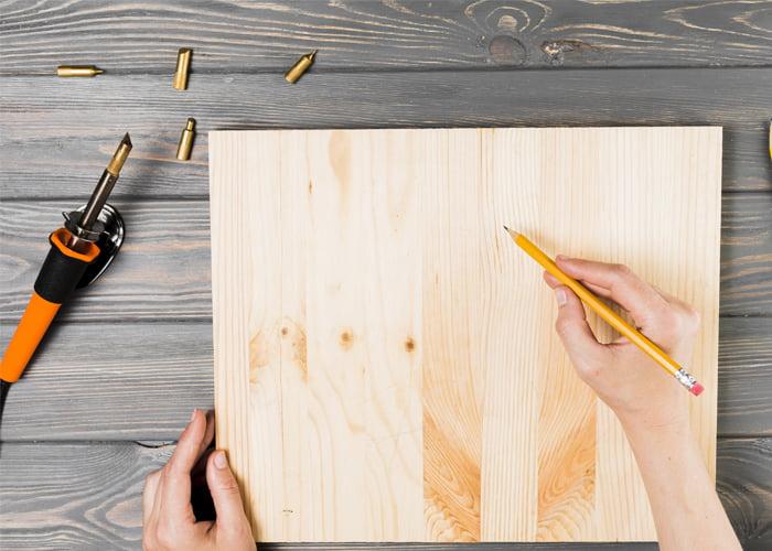 Máquina de fazer desenho em madeira