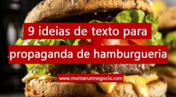 Texto para propaganda de hamburgueria
