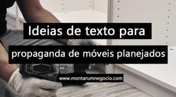 Texto para propaganda de móveis planejados