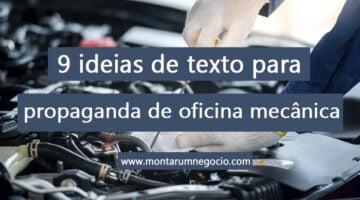 Texto para propaganda de oficina mecânica