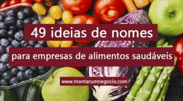 nomes criativos para empresas de alimentos saudáveis