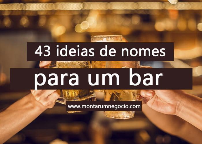 nomes para bar