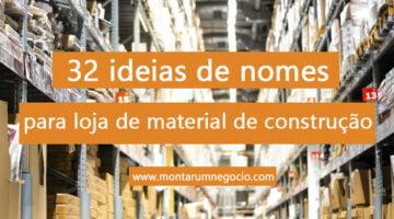Nomes para loja de materiais de construção
