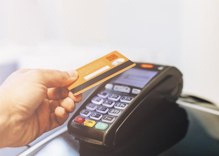 representante para máquina de cartão de crédito