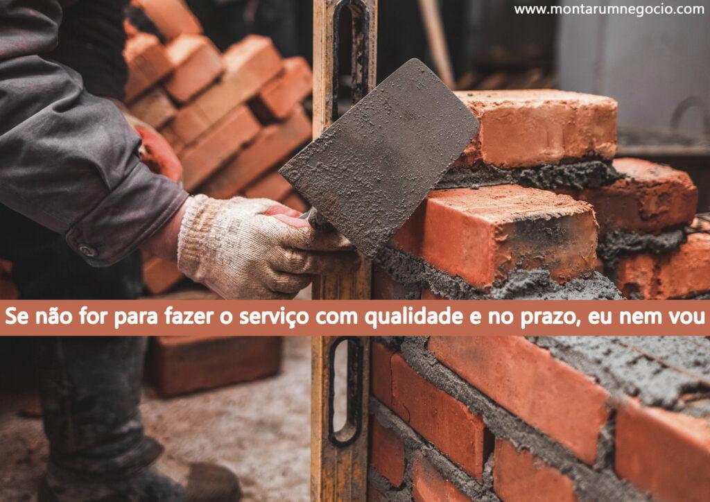 Frases para divulgar trabalho de pedreiro