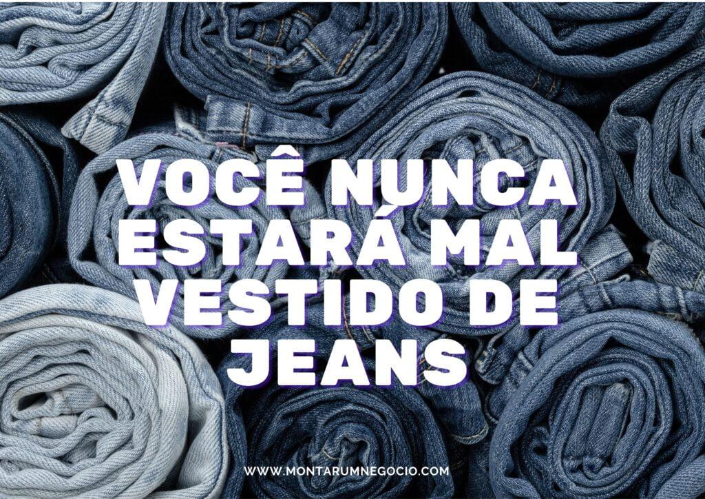 Frases para propaganda de jeans