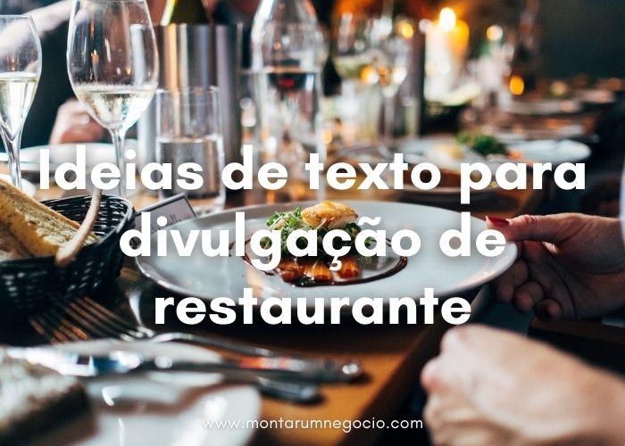 Texto para divulgação de restaurante